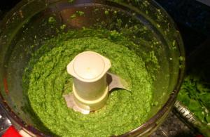The Making of Arugula Pesto